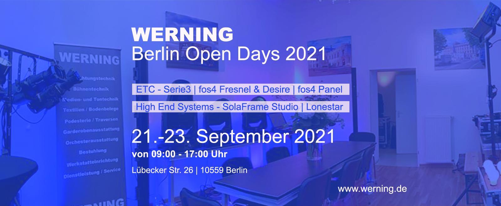 Werning Berlin Open Days 2021